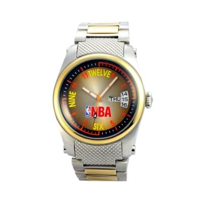 NBA 美國職籃 運動休閒日期顯示腕錶-金/45mm