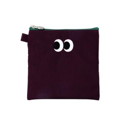 Livework SOMSOM 萬用拉鍊刺繡包V2-茄紫