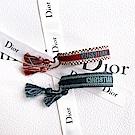 DIOR「J ADIOR」字母編織手環(2副1組)(紅色/藍色)