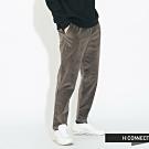 H:CONNECT 韓國品牌 男裝 - 鬆緊抽繩絨面長褲 - 灰褐色