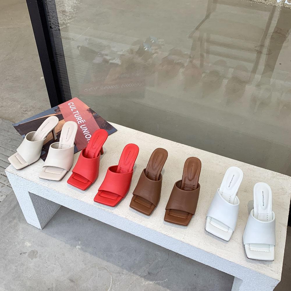 RUNA-正韓來台-素面格調時尚高跟鞋-白/象牙/咖啡/紅