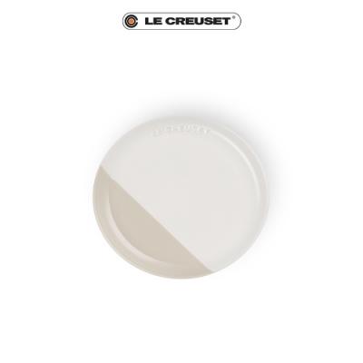 [結帳7折] LE CREUSET瓷器花蕾系列餐盤17cm-棉花白/肉豆蔻