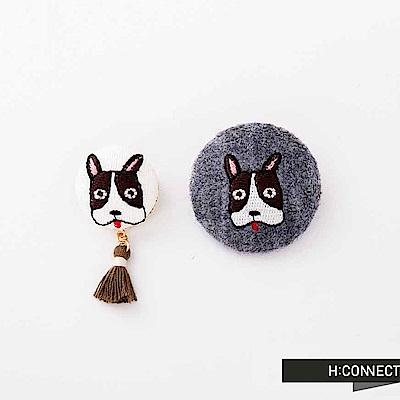 H:CONNECT 韓國品牌 -可愛動物流蘇別針-灰
