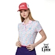 【Lynx Golf】女款吸汗速乾羅紋領活潑塗鴉印花短袖POLO衫-粉色 product thumbnail 2