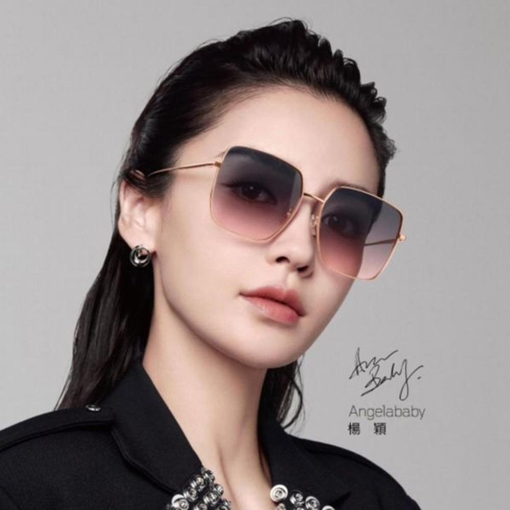MOLSION 偏光太陽眼鏡 肖戰 Angelababy同款 大方框 /金-藍粉鏡片 #MS7118 A30