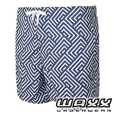 WAXX 衝浪系列-幾何時尚快乾型男海灘褲(15英吋)