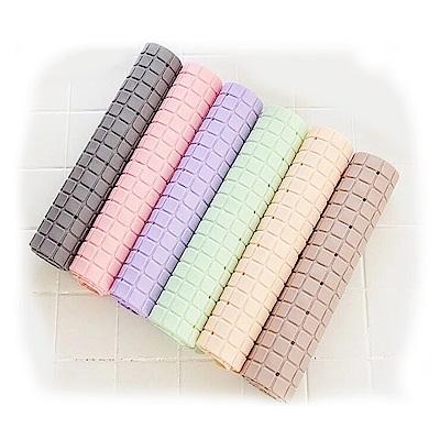 時尚米蘭方格 防滑地墊6入組-顏色隨機
