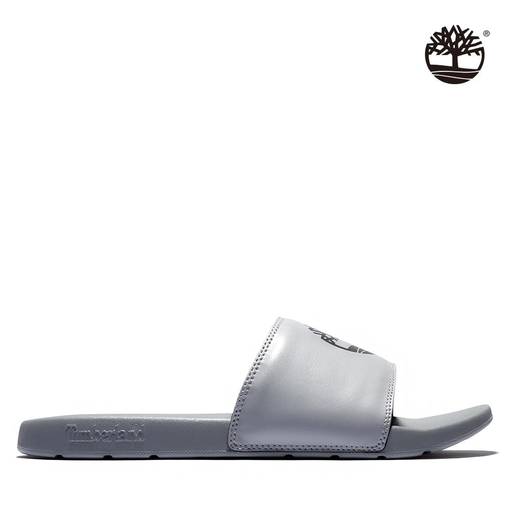 Timberland 中性中灰色品牌標誌休閒拖鞋 A24WY