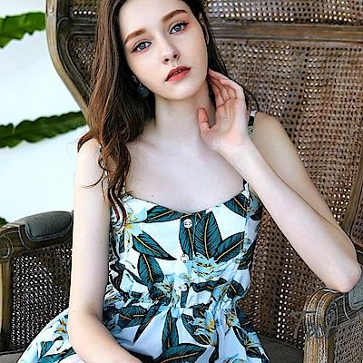 印花吊帶洋裝 共二色 TATA