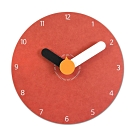 7吋 小巧居家 粉嫩簡約 北歐風 無印風 辦公室客廳臥室 靜音 圓掛鐘 - 粉紅色