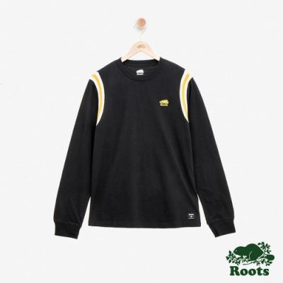 男裝Roots學院風長袖T恤-黑