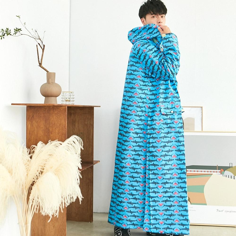 RAINSTORY龐克鯊魚連身雨衣(XL號)
