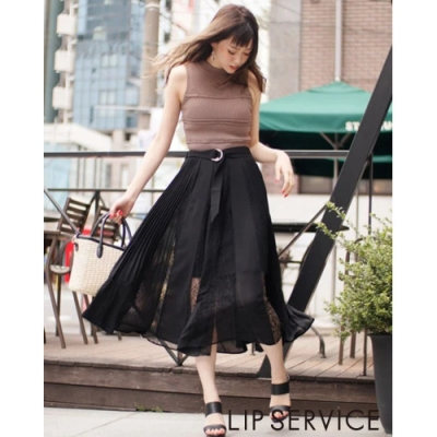 LIP SERVICE 飄逸蕾絲長裙(3色)