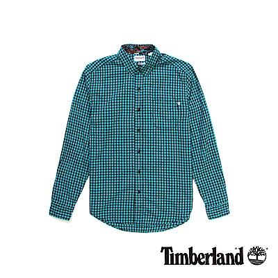 Timberland 男款青色Still River格子長袖襯衫