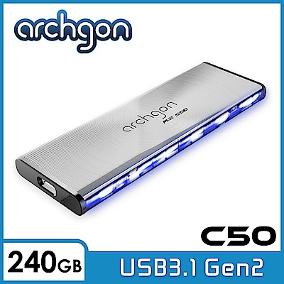Archgon C501LK 240GB 外接式固態硬碟 USB3.1 Gen2 -水波風