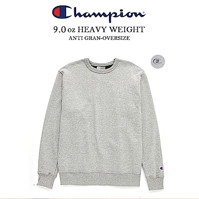 CHAMPION BASIC TEE冠軍美規重磅大學服電繡 麻灰