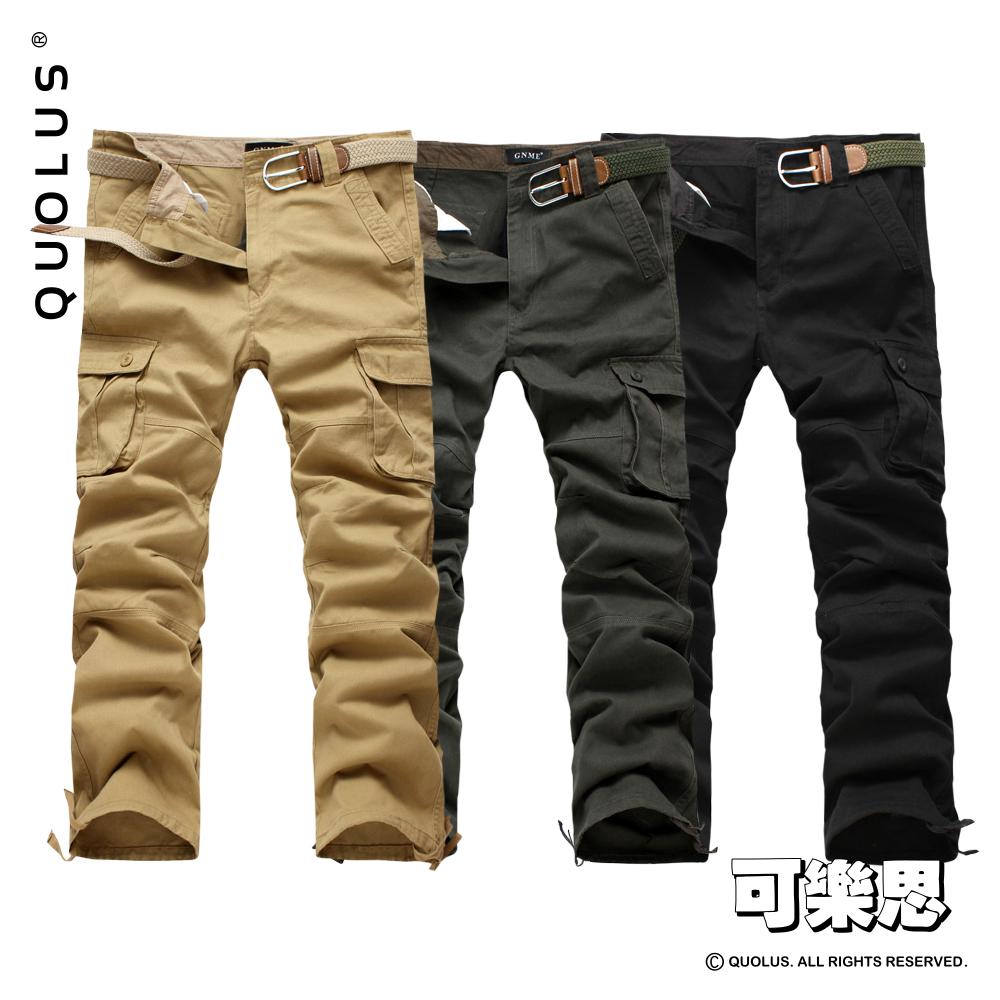 可樂思 外貿款 多口袋 工裝褲 軍裝褲 男生休閒褲