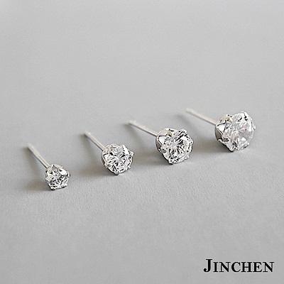 JINCHEN 純銀水鑽耳環