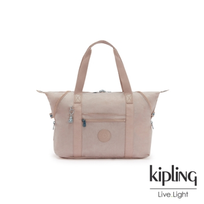Kipling 玫瑰拿鐵色手提側背包-ART M