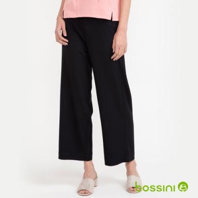 bossini女裝-彈性寬褲02黑