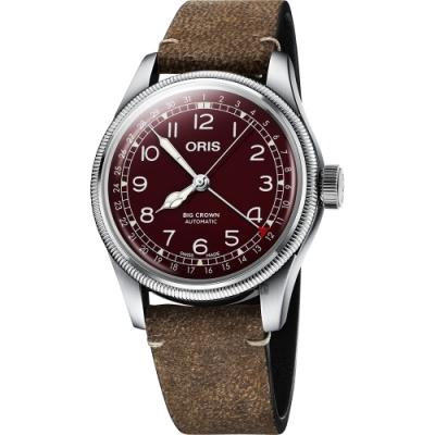 Oris 豪利時 Big Crown 紅色復興指針式日期機械錶-40mm