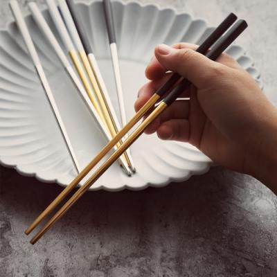 歐式風格 炫彩不鏽鋼防滑筷子(12雙組/8色任選)