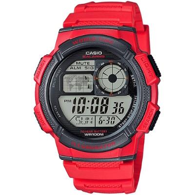 CASIO 雷霆世界戰士運動電子錶-紅(AE-1000W-4A)/43mm