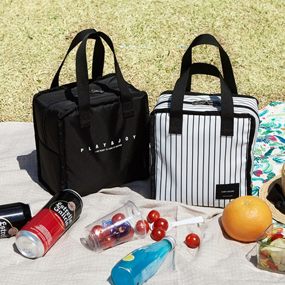 《WEEKEIGHT》時尚加厚防震保溫袋/保冰袋/便當袋/午餐袋