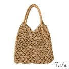 編織縷空單肩包 共二色 TATA