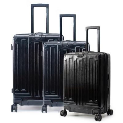DF travel - 享受LIFE即刻出發髮絲紋行李箱三件組