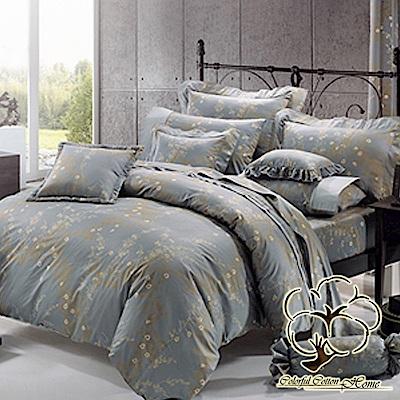 采棉居寢飾文化館  60支精梳棉七件式床罩組5x6.<b>2</b>尺