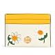 TORY BURCH Robinson 花卉拼貼防皮革卡片證件夾-黃/白 product thumbnail 1