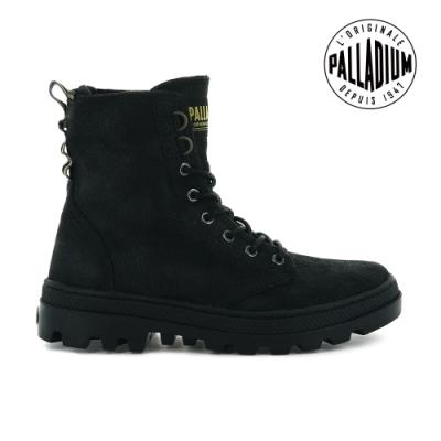 PALLADIUM PALLABOSSE OFF WAXY帆布軍靴-女-黑