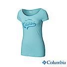 Columbia 哥倫比亞 女款-印花T-Shirt - 藍色 UAL12730BL
