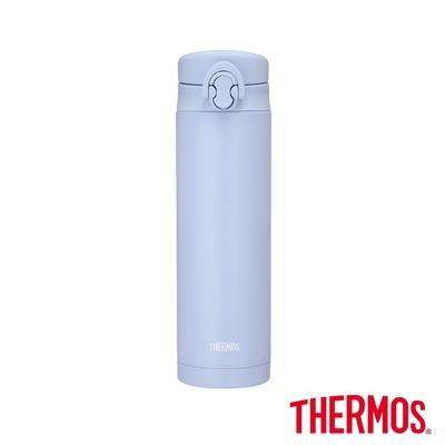 THERMOS膳魔師不鏽鋼彈蓋真空保溫瓶500ml(JNF-502-LBL)湖水冰藍