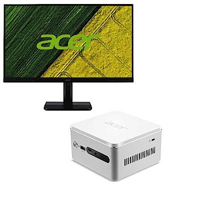 Acer Revo RN76迷你桌機薄邊框電腦螢幕組