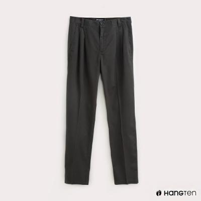 Hang Ten-男裝折線REGULAR FIT防皺工作長褲-灰