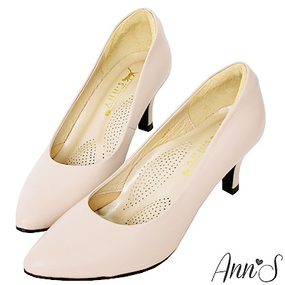 Ann S完美比例六公分尖頭全真皮包鞋-杏