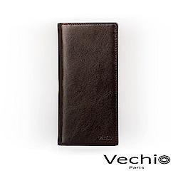 VECHIO - 經典商務男仕系列-14卡長夾 - 棕