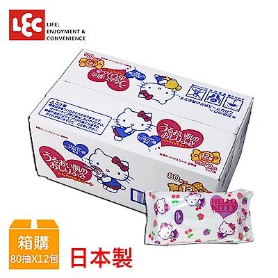 日本LEC Hello Kitty 純水99%濕紙巾 80抽x12包/箱