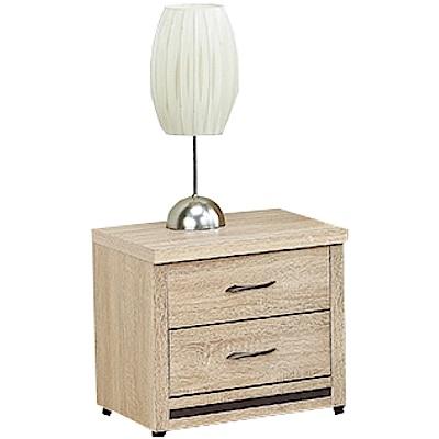 綠活居 愛利斯時尚1.6尺木紋床頭櫃/收納櫃-49x40x46cm免組