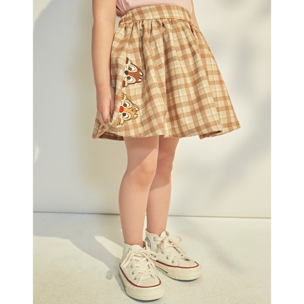 CACO-奇奇蒂蒂格紋裙-親子款-童【B3DI041】