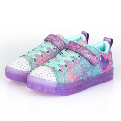 SKECHERS 女童系列 SHUFFLE BRIGHTS 燈鞋 - 314255LLVMT