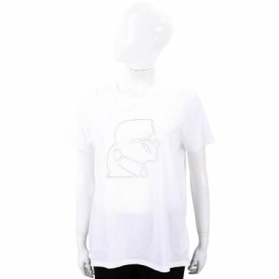 Karl Lagerfeld Lightning Bolt 卡爾 老佛爺 側臉肖像短袖T恤
