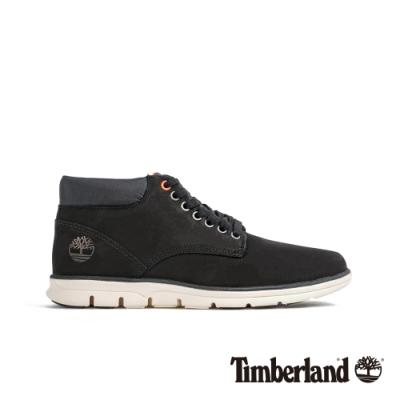Timberland 男款經典黑休閒中筒鞋|A1TVB