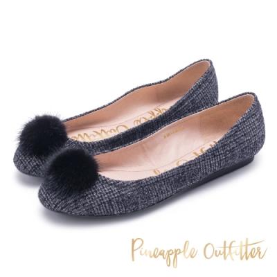 Pineapple Outfitter舒適 布面圓頭平底鞋-黑色