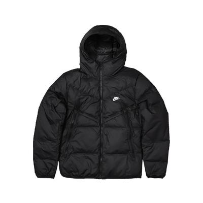 Nike 外套 Windrunner Jacket 男款 高蓬鬆 羽絨 輕量 保暖 冬天必備 黑 白 DD6796-010