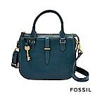 FOSSIL Ryder 真皮小圓弧手提/側背兩用包-綠色