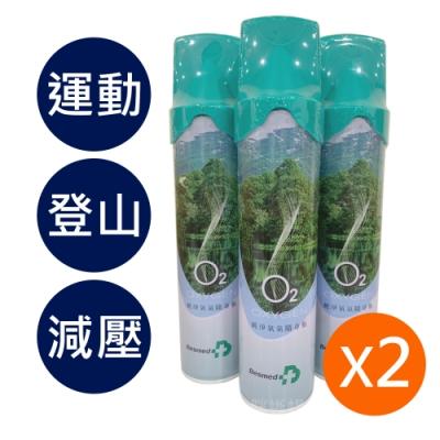 (2入組)貝斯美德 O2純氧隨身瓶 氧氣罐 氧氣瓶 登山運動-9000c.c.