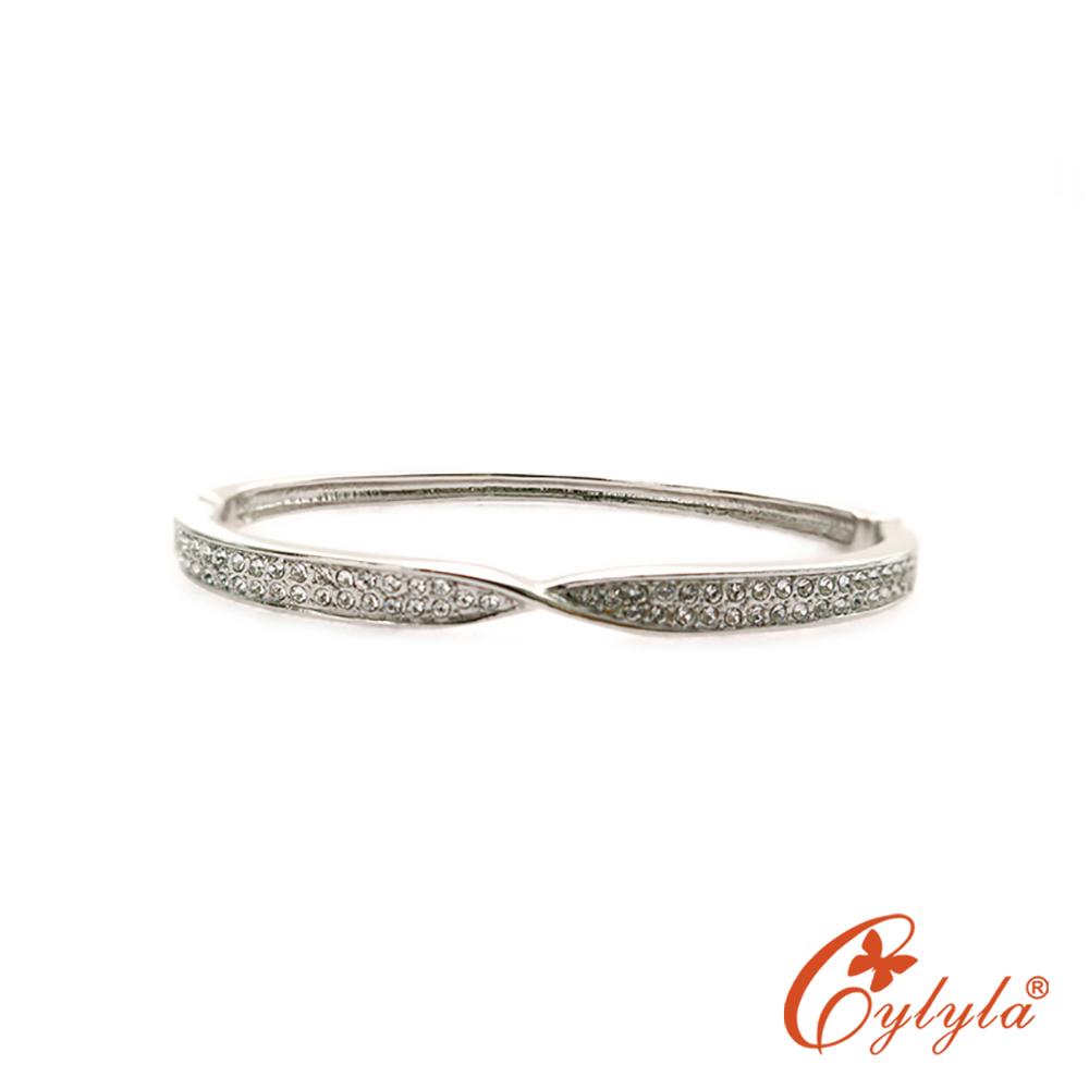 Cylyla思琳娜 扭結奧地力白水晶手環BL-1331G